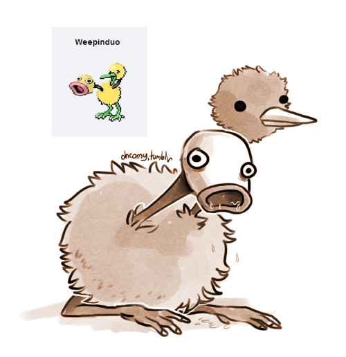ohcorny:  weepinduo  *ugly laughing* The breeding! Oh my gosh, the pokemon breeding has gotten out of hand