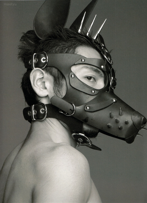 Koh Masakiin a dog mask