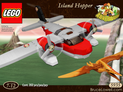 LEGO 5935 Island Hopper (Redux) Box Art (by bruceywan)