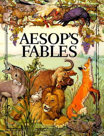 #46: Aesop, Fables I've been reading Aesop's Fables for as long as I can remember. His writing lends itself easily into reading appropriate for children, which is how I first came across it. The stories themselves are numerous, mostly short, and focusing on some type of a morality lesson. The animals in Aesop's world are without fail capable of speech and the experiences they go through are intended to teach the readers lessons about morality, charity, generosity, moderation, kindness, to name a few.