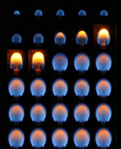 spaceplasma:  A Burning Candle In Zero-Gravity  The results of a Burning and Suppression of Solids (BASS) experiment demonstrates that in zero-gravity—where heat doesn't rise—a flame burns in a uniform oval.  Credit: Col. Chris Hadfield