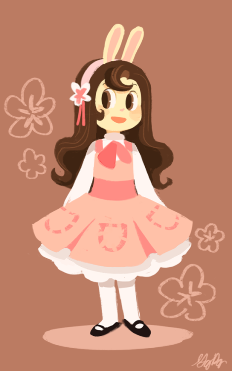gigidigi:  Almond in a very CCS-inspired dress.  My favorite character from my favorite web comic, as inspired by my favorite anime. Gigi is simply the best.