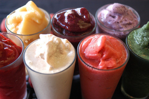 Zain's Favourite Vegan Smoothie Recipes  With the weather getting warmer, I start to crave more of my meals and snacks in smoothie form.  Smoothies are an awesome way to get your nutrients and vitamins in and if done right, it can sometimes be hard to believe that they are actually good for you. Here are some of my favourite vegan smoothies that I have crafted over the years.  I use SUNWARRIOR protein powder but you can also sub in for hemp, pea, brown rice or another vegan protein of your choice. Zain's OMFG Breakfast Smoothie Ingredients: 1 Scoop SUNWARRIOR Vanilla (Warrior Blend) 1 Tbsp Crunchy Peanut Butter 3/4 Frozen Banana 4 Medjool Dates 1/2 Tsp Natural Vanilla Extract 1 Tsp Maca Root Powder (this superfood does not work for everyone, listen to your intuition) 1/2 Cup Oats (optional) Pinch Sea Salt 1 Cup Unsweetened Almond Milk 1 Tbsp Cacao Powder (optional) 1/8 Cup Water Handful of Ice Directions: 1. Blend & Serve Zain's Fairy Godmother Smoothie Ingredients: 1 Scoop SUNWARRIOR Vanilla (Warrior Blend) 2 Cups Kale 1 Cup Frozen Berries 1 Cup Hemp Milk 1/2 Tbsp Cashew Butter 1/2 Tbsp Hemp Seeds 10 Drops Vanilla Creme Stevia OR 1 Tbsp Raw Natural Maple Syrup 1 Scoop SUNWARRIOR Supergreens OR Greens Powder of Your Choice 1/4 Cup Water Directions: 1. Blend & Serve Zain's Chakra Spinning Smoothie Ingredients: 1 Scoop SUNWARRIOR Vanilla 1 Cup Frozen Blueberries 1/8 Cup Dried Mulberries 1 Tbsp Coconut Butter 3/4 Cup Unsweetened Almond Milk  1/4 Cup Light Coconut Milk 1/2 Cup Coconut Water Sweetener of Your Choice (optional, I use powdered stevia) 1/8 Cup Water Handful of Ice Directions: 1. Blend & Serve Zain's Love Power Smoothie Ingredients: 1 Scoop SUNWARRIOR Chocolate  11/2 Tbsp Raw Cacao 1 Cup Frozen Raspberries 1/2 Tbsp Raw Cacao Butter OR Coconut Butter  1 Cup Unsweetened Chocolate Almond Milk 1/2 Tbsp Unsweetened Natural Raspberry Jam 1 Tsp Maca Root (This is a superfood does not work for everyone, use your intuition before introducing it) Sweetener of Your Choice (I don't sweeten this one) 1/8 Cup Water Handful of Ice Directions: 1. Blend & Serve