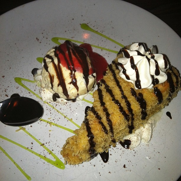 Fried Cheesecake Split between 4 people. #HowNotToBeAFatAss