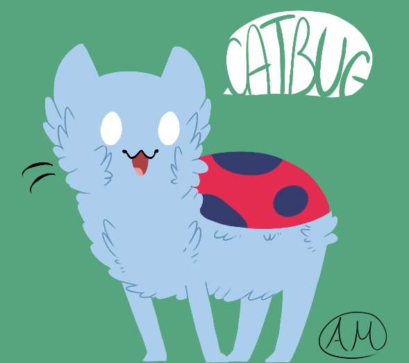 """My name's Catbug"" Watch Catbug in the Bravest Warriors episode, ""Gas Powered Stick"" Thank you Alex for sharing your adorable Catbug fan art with us ^_^"