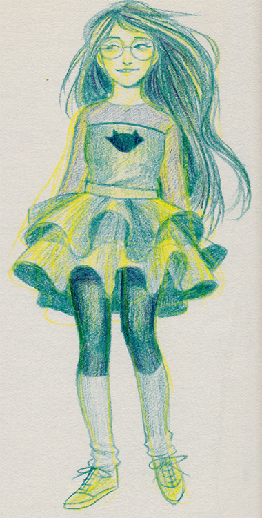 kathysbrotherssister:  color pencil with jade too