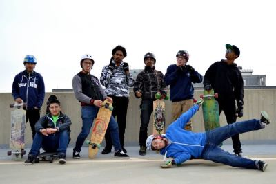 newarkbomb:  Longboarding is best done on 8 flights of a parking deck!  Look at those faces! No Fucks were given on that day!