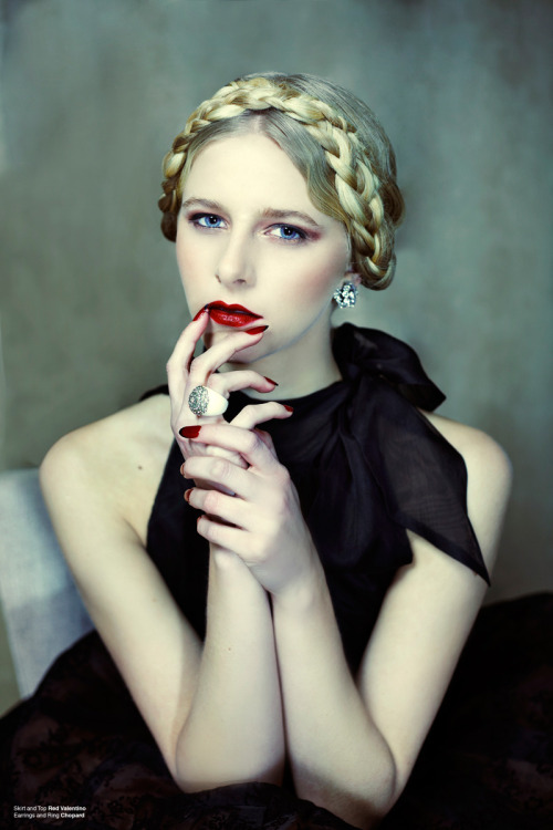 All hail red lips & nails. Annie by Clara Copley, January 2013.