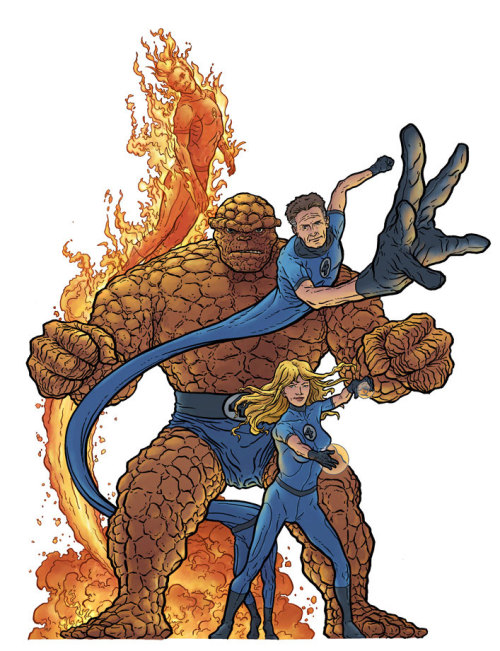 comicblah:  Fantastic Four by Geof Darrow  colors by Peter Doherty