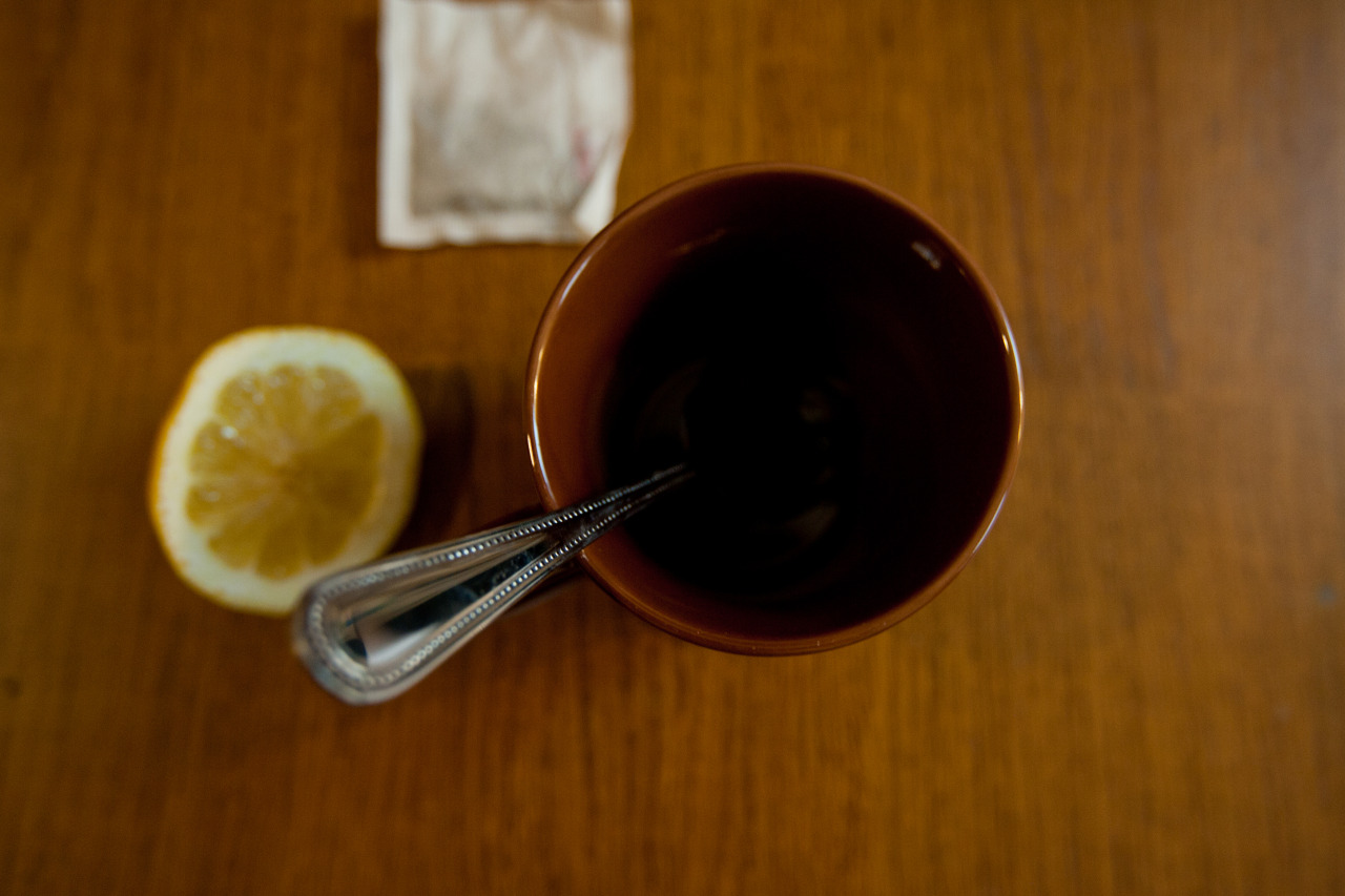 Cold remedy- copious amounts of herbal tea, honey, and lemon.