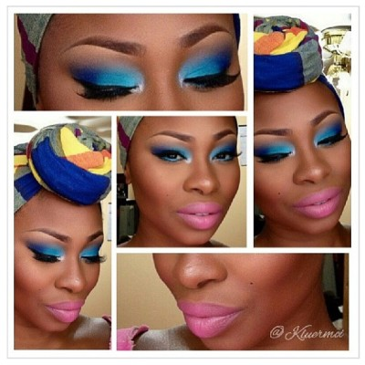 luvyourmane:  @kluermoi's doing it again with this makeup and turban look! 😍 #luvyourmane #naturalhair #blackisbeautiful