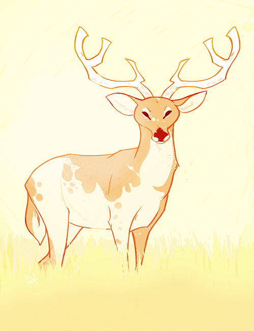I felt like drawing a deer.
