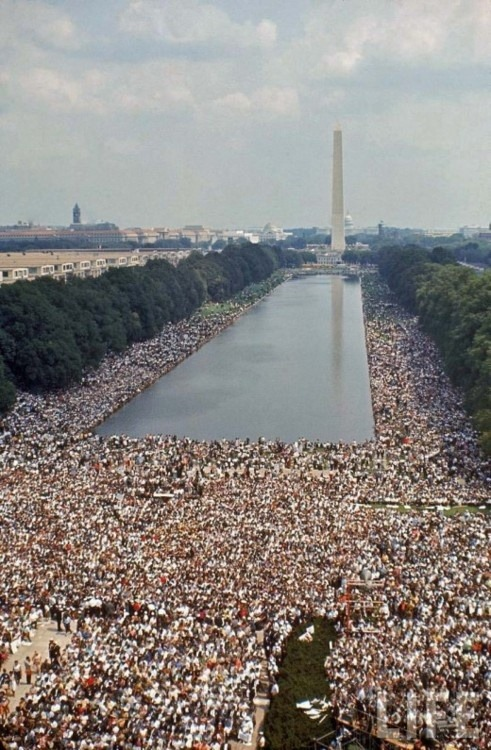 pursuitofmore:  melodyjane:  living70s:   Civil Rights March, Washington, 1963.   i immediately thought of forrest gump when i saw this  ^