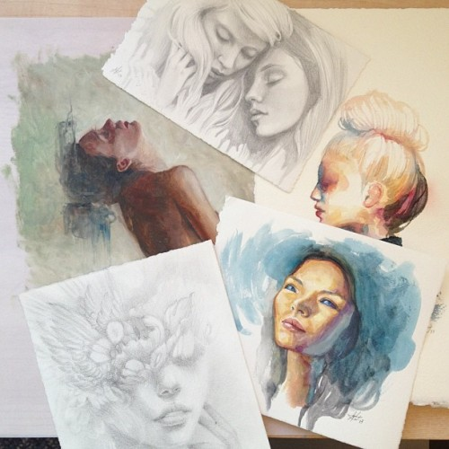 These 5 originals are now up for sale in my Bigcartel store (http://mandytsung.bigcartel.com).