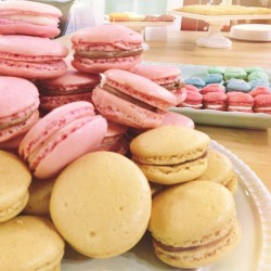 Piles of macarons for the @laluneandmoon first anniversary party! So proud of how far they've come & where they're going 😊 laluneandmoon.com #laluneandmoon #macarons #french #desserts #bakedgoods #nutella #foodporn #cute #party #fashion #anaheim #california #latergram  (at Anaheim, CA)
