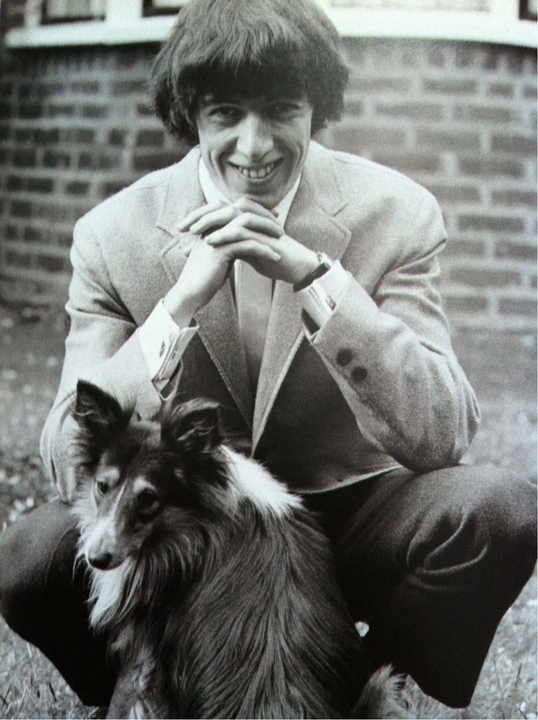 BILL WYMAN touch-of-a-velvet-hand:  Bill Wyman with his dog Lucky.