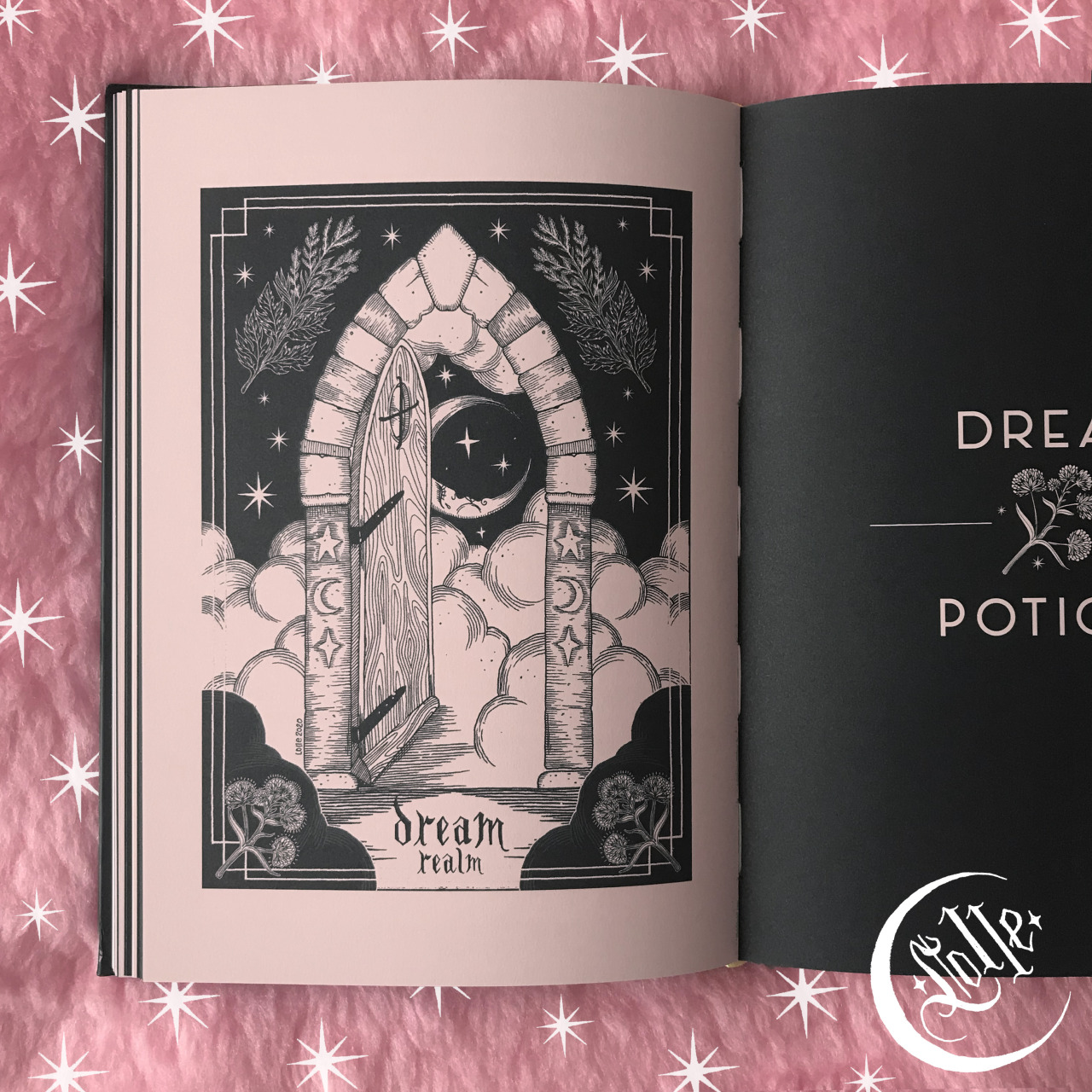 another illustration I made last year for the book Potions, Elixirs & Brews ✶ DREAM REALM ~ ©Lolle (2020) 🌜☁️✨  - - - To be a book illustrator have always been one of my biggest dreams ♡ ....and Im so happy I finally had the chance to test myself in this art field last year!  Ive to admit that I was pretty scared at first, but Im so happy I finally had the courage to join this adventure , because this have been a great satisfaction for me!🖤  ...I really hope to have more opportunities like this in the future! 🤞🏻✨ - - -  • Potions, Elixirs & Brews ~ author @hearthfirefox - edited by @watkinswisdom - graphic design @effe_logo ♡ #book#book illustration#ink illustration#original illustration#dream#dream realm #potion elixirs and brews #lolleart#lOll3ART#lOll3#potion#potion book