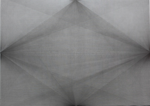 Liu Wentao Untitled 2008Pencil Drawing on Canvas200 x 280 x 3cm via: White Cube Beijing