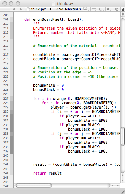 "Xcode - The editor sidebar shows how ""deep"" the indentation of the code is with varying values of grey. /via HonzikD"