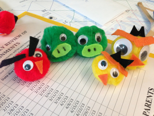 adiemtocarpe:  thneedfactory:  adiemtocarpe:  Making some angry birds for our standardized test review games… If we have to teach to the test, we are going to slingshot some angry birds in the process.  Please tell me so much more.  Google Scholastic Angry Birds Family Night! I'd link it but I am on my phone. It was a blast!