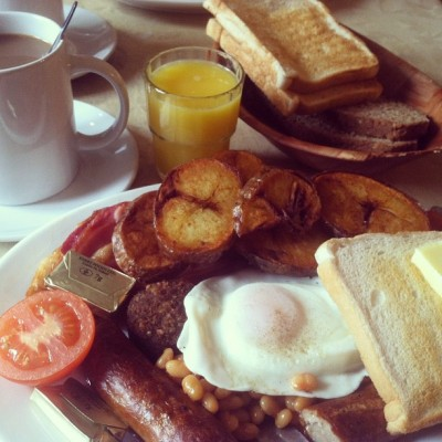 A full Irish breakfast for one.  (at Riordan's Food House)