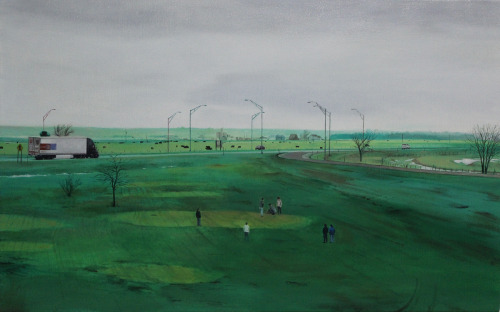 Nate Burbeck | on tumblr Deuel County, Neb., Oil on Canvas, 20 x 32 inches, 2013
