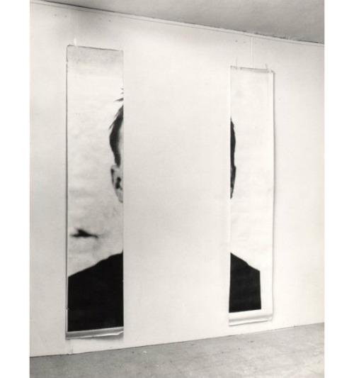 kiameku:  Michelangelo Pistoletto The Ears of Jasper Johns 1966 Photographs on paper, two elements 250 x 80 cm each