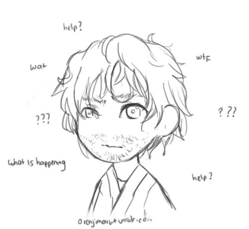 colorblocked, went to practice on chibi instead  drew confused Athelstan ???