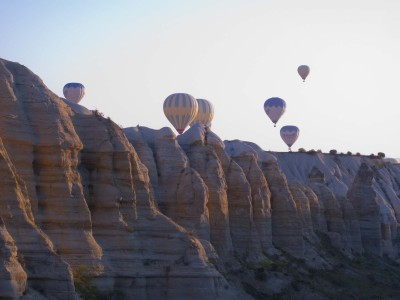 Pic from our hot air balloon ride this morning at 5am in Cappadocia Turkey! RIDICULOUS!!!!