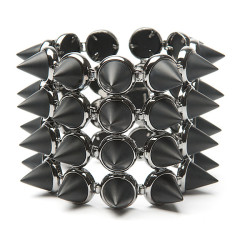 blargblerg:  Eddie Borgo Four Layer Gemstone Cone Bracelet ❤ liked on Polyvore (see more eddie borgo jewelry)