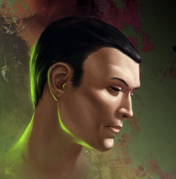 karanan:  Vector Hyllus by ~KaraNan I painted a quick portrait of Vector because the SWTOR servers were down and I found a fortunately timed screenshot and because Vector is adorable and awesome I can't really say anything to defend that background But here you go, have some Dawn Herald