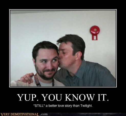 wilwheaton:  (via Two Handsome Men - Cheezburger)