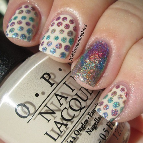 truthteller:  Holo dots and a holo fishtail! I heard you liked holo!!! So here's some holo to go with your holo.