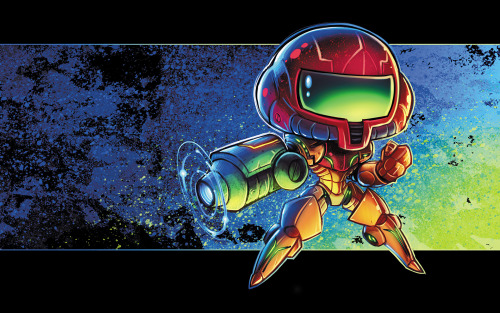 Nice little Metroid piece entitled: Chibi Metroid by RobDuenas. Has a nice Urban feel to it. Feels like a mash-up of Japanese and Graffiti art influence. Makes you want to put on a power suit, blast some beams at Mother Brain while listening to some hip-hop.