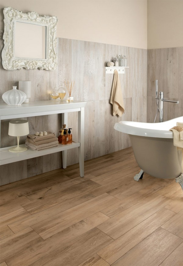 homedesigning:  (via Wood Floor Tiles In Bathroom)