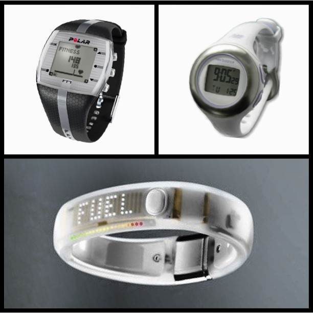 #icantdecide!!! Anybody own any of these have some thoughts on them? #polar #ft7 #newbalance #slimmini #nike #fuelband —- I'm leaning towards the new balance one because I can use it for everyday —- Does anyone still like the #nikefuelband for #fitness use or just a cool-looking watch?