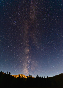 mystic-revelations:  Milky Way Meets Moon on Kebler Pass (by Fort Photo)