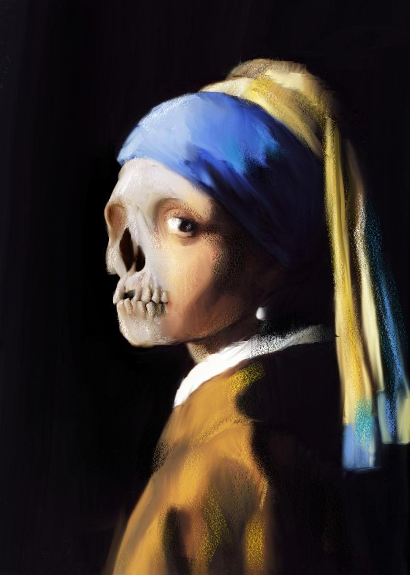 art-and-fury:  Vanité series (Dead Girl with a Pearl Earring) -  Axelle Le Pavoux
