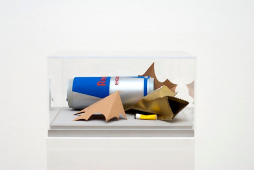 Paper replicas of trash by artist Carly Fischer (via juxtapoz.com)