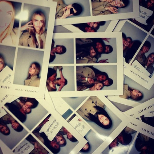 karla-world:  photobooth at the Burberry show