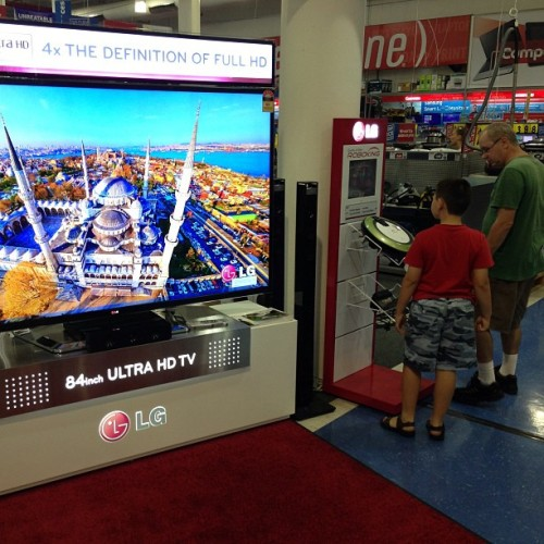TV's… Now bigger than large children…