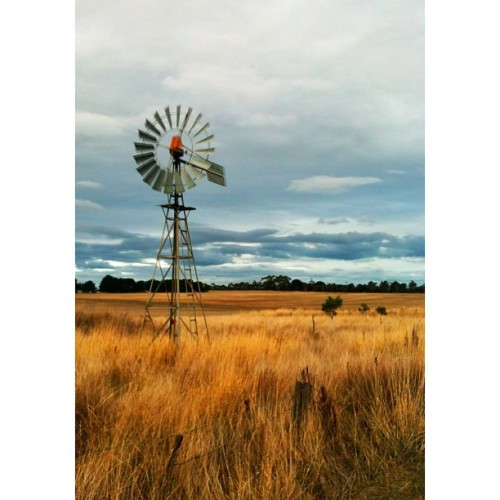 #windmill #clouds #grass #Geelong #wind
