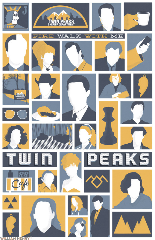 Twin Peaks poster by William Henry Prints available on Etsy at https://www.etsy.com/listing/128426520/twin-peaks-poster ——— View my portfolio at http://www.williamhenrydesign.com. Please get in touch. I would love to work together on a project. You can also follow me on Twitter at http://www.twitter.com/billpyle and on Facebook at http://www.facebook.com/williamhenrydesign.