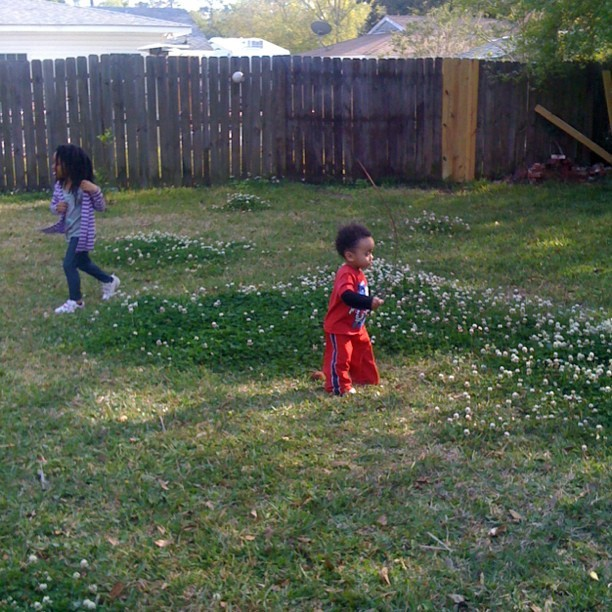 #Outside having #playtime in the #backyard.  #family #fun #kids