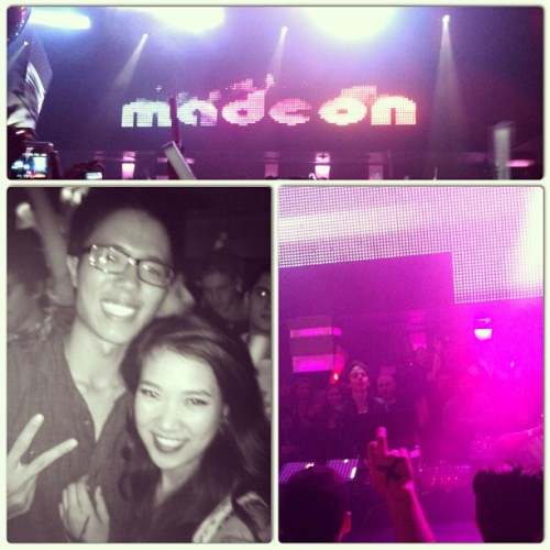 Madeon, again! Got to see him up close this time! #lilsis #fun #madeon #hugo #edm