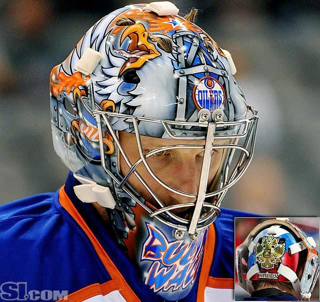 Does Edmonton's Nikolao Khabibulan have the best headgear in hockey? Judge for yourself in SI's gallery NHL goalie masks by team. (Patrick Green/Icon SMI) GALLERY: NHL Goalie Masks By Team