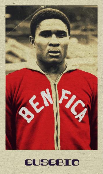 THE VINTAGE FOOTBALL CLUB ARTWORK Eusebio - Benfica