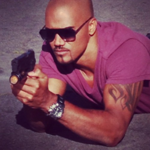 "@shemarmoore: ""DEREK MORGAN"" criminalminds (Twitter) just another day Blasting Fools n Kicking down Doors!!"