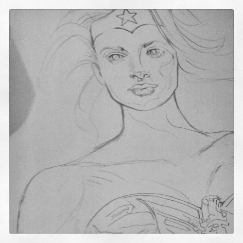 Early stages of #wonderwoan #art #illustration #artinprogress #pencil #comic