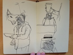 A few pages from my sketchbook from our drawing trip to Gloucester car boot market